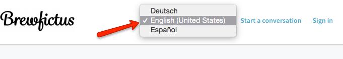 help center preferred language