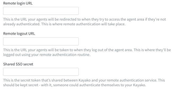 Enabling single sign-on (SSO) for user authentication - Kayako Support