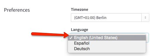 user profile preferred language