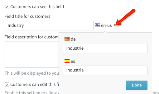 field language selection